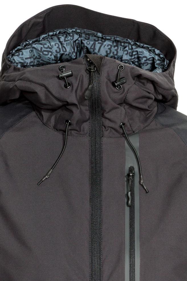 5cb5f15b0c0709 ... Watowana kurtka narciarska - Czarny - ONA   H&M ...