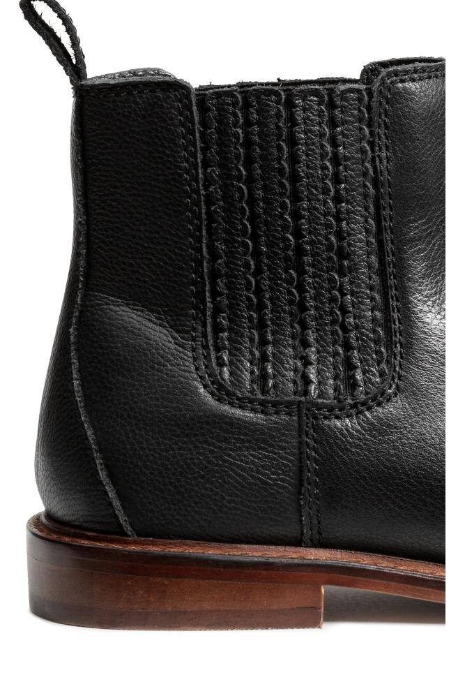 d58d2616703a0 ... Nízke kožené jazdecké čižmy - čierna - DETI   H&M ...