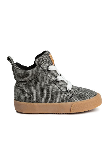 Hi-top trainers - Black marl -  | H&M CN
