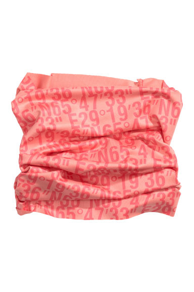 Tube scarf - Neon orange/Text print - Ladies | H&M IE
