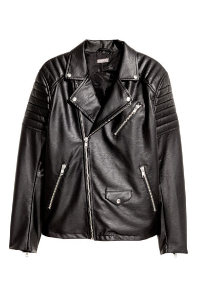 Biker jacket - Black - Men | H&M GB