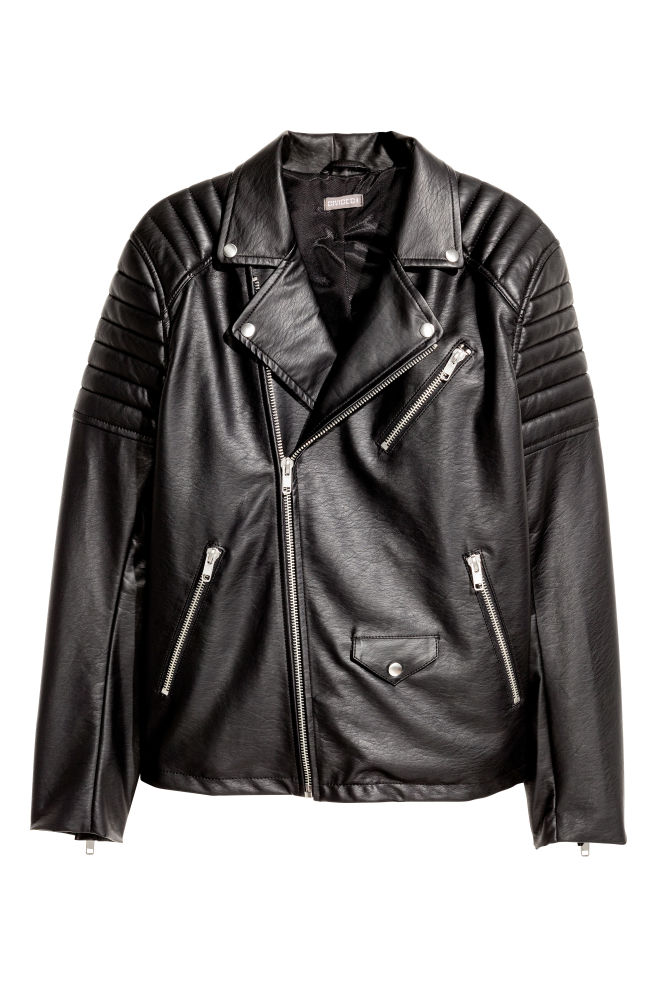 19c0f164 Biker jacket - Black - Men | H&M ...