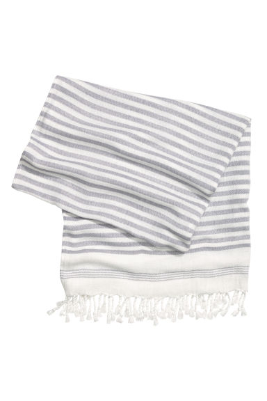 Beach towel - Light grey/Striped - Ladies | H&M GB