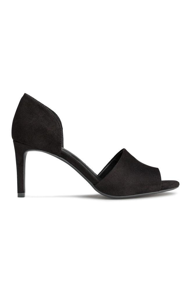 536212e66f61b9 Escarpins avec bout ouvert - Noir - FEMME   H&M ...