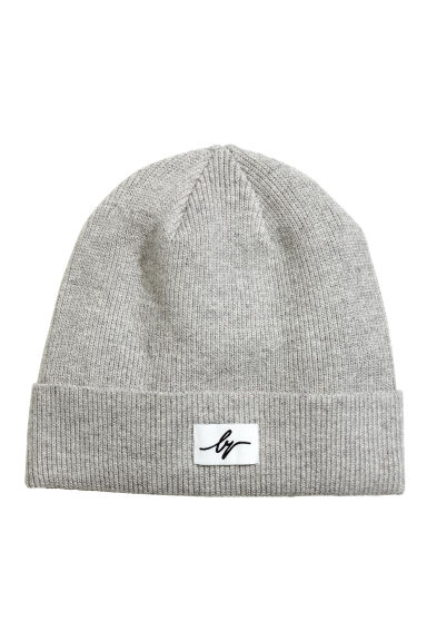 Ribbed cotton hat - Grey marl -  | H&M CN