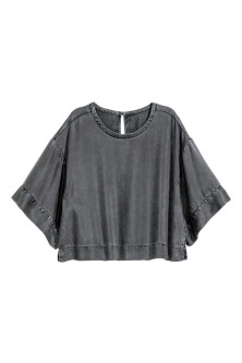 Top oversize in lyocell