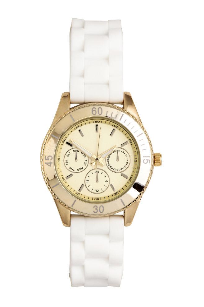 789747621 Náramkové hodinky - biela - ŽENY | H&M ...