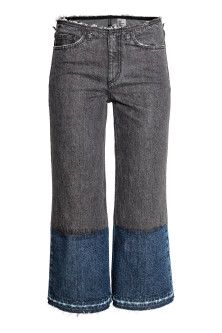 Wide Cropped Jeans