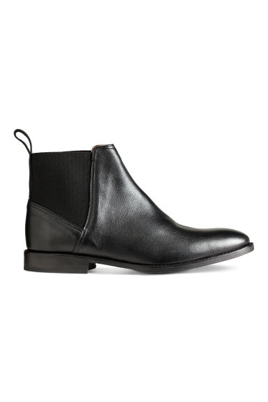 Leather Chelsea boots - Black -  | H&M CN