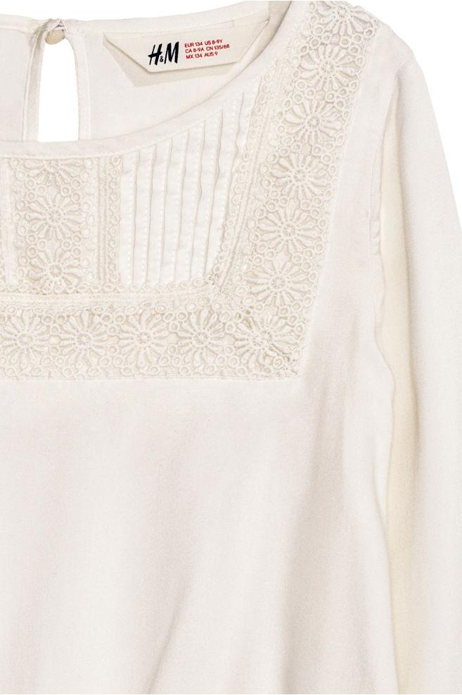 8447d849b5d ... Blouse met kant - Wit - KINDEREN | H&M ...