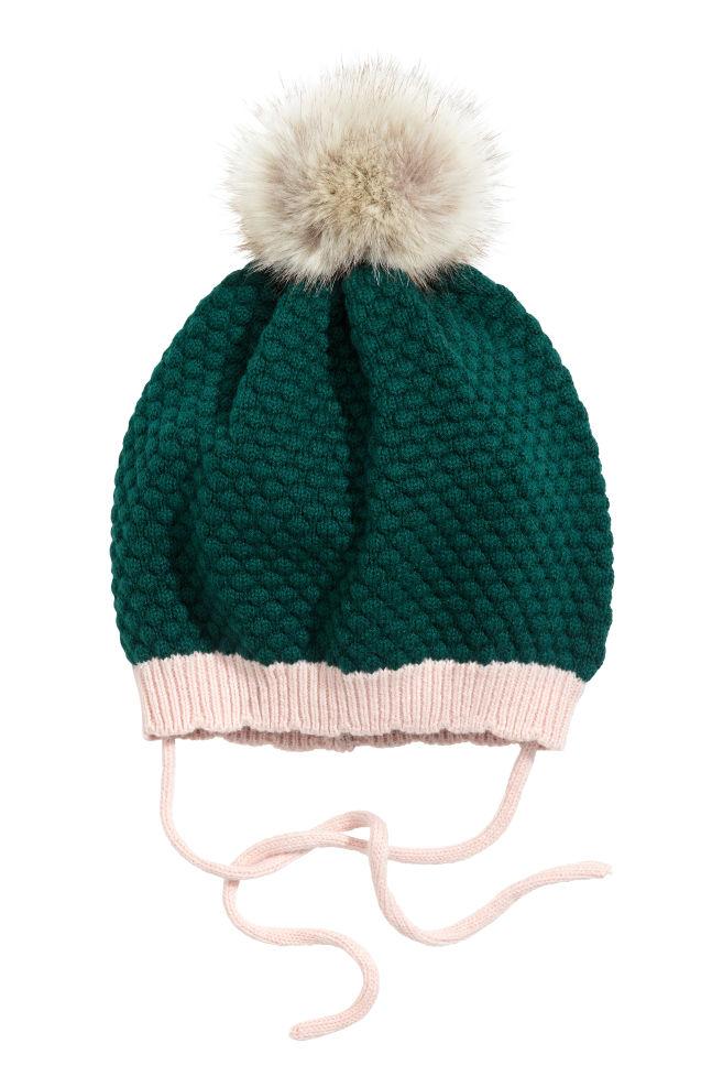 Inteligentny Czapka z pomponem - Ciemnozielony - Dziecko | H&M PL BD01