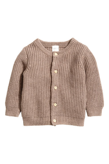 Ribbed cardigan - Mole - Kids | H&M CN
