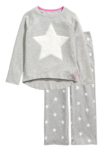 Jersey pyjamas - Grey/Star - Kids | H&M CN