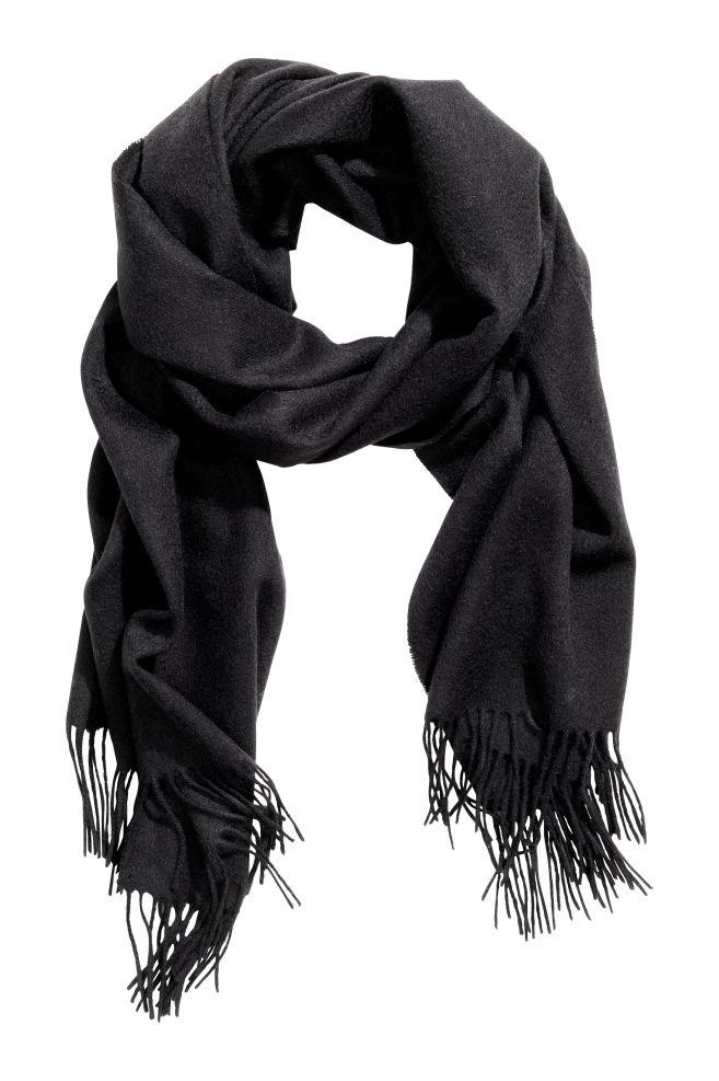 Écharpe en laine - Noir - FEMME   H M ... c5cbe327d54