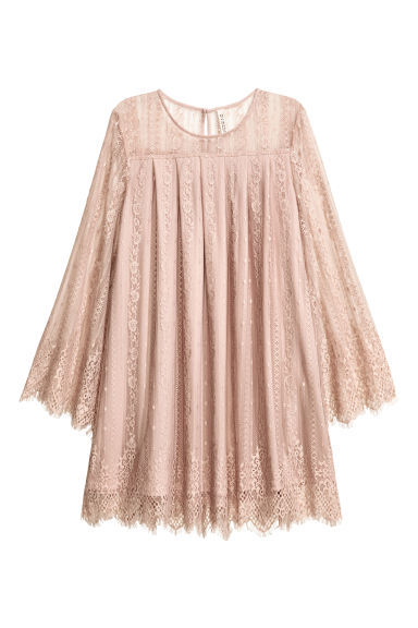 Short lace dress - Vintage pink - Ladies | H&M