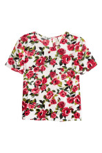 Natural White/Red floral