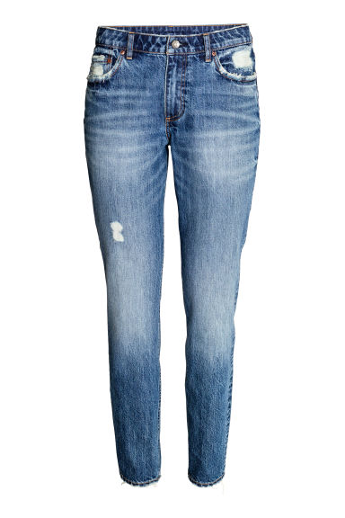 Relaxed Skinny Ankle Jeans - Denim blue - Ladies | H&M CN