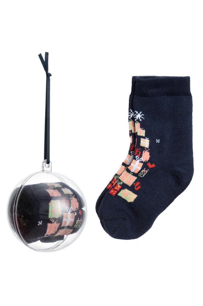 Sokken In Kerstbal Donkerblauw Kinderen H M Be