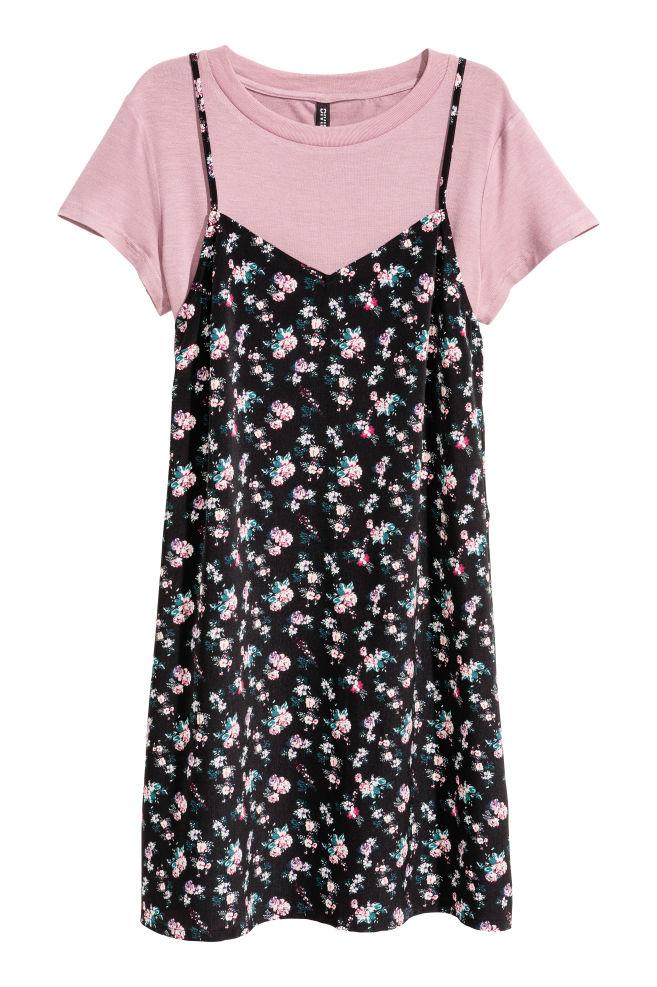 48e3e84a0e9 Strappy dress and top - Black/Small floral - Ladies   H&M ...