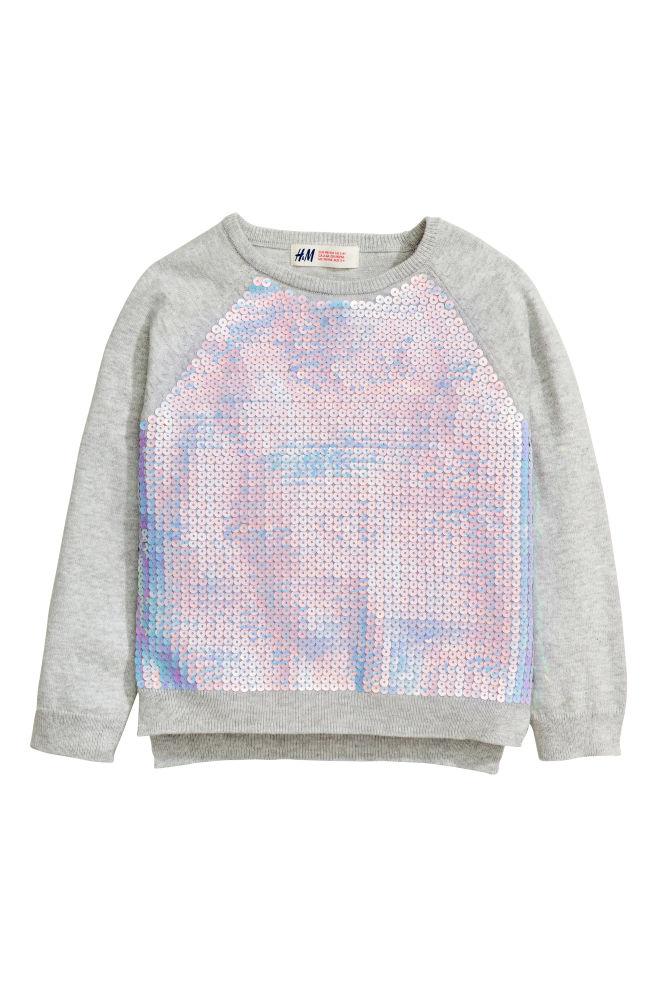 Tylko na zewnątrz Sweter z cekinami - Szary/Cekiny - Dziecko | H&M PL HB23
