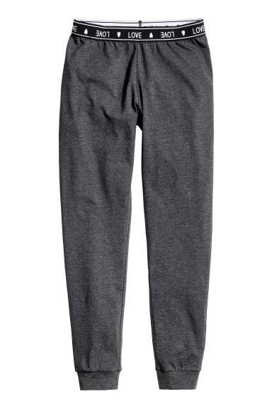 Jersey pyjama bottoms - Dark grey marl - Kids | H&M CN