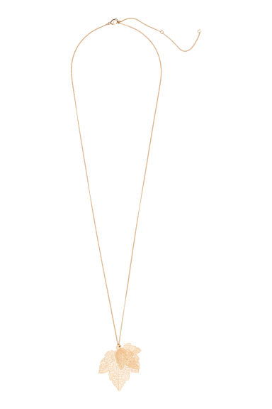 Necklace with a pendant - Gold -  | H&M