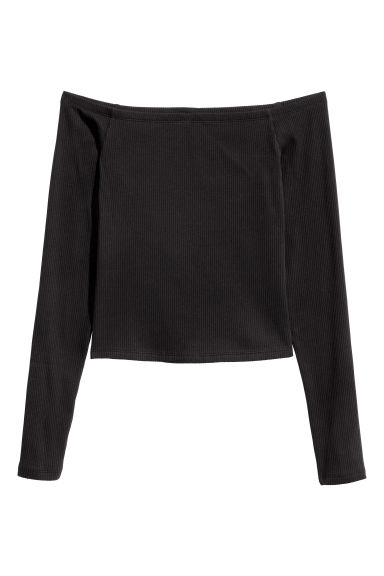 Off shoulder-topp - Svart - DAM | H&M FI