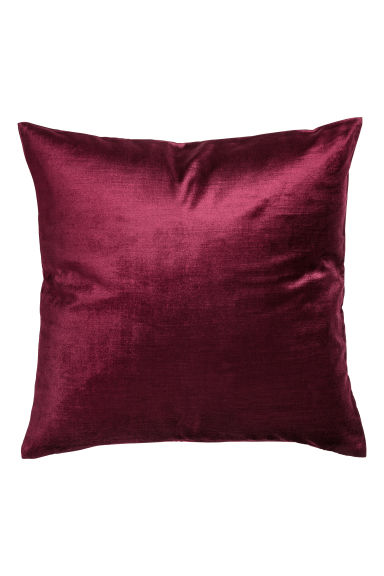 Velvet cushion cover - Burgundy - Home All | H&M GB