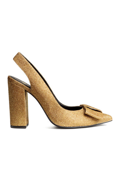 Glittery slingbacks - Gold - Ladies | H&M GB