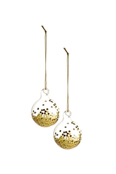Christmas Baubles.2 Pack Small Christmas Baubles