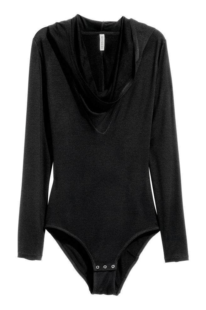 Body à capuche - Noir - FEMME  83cfce11b63