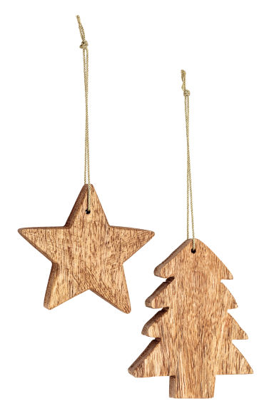 Lot de 2 décorations de Noël - Beige -  | H&M FR