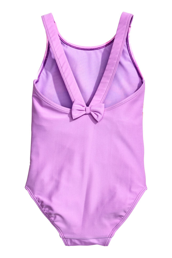 030e04b39 Printed swimsuit - Purple/Disney Princesses - Kids | H&M ...