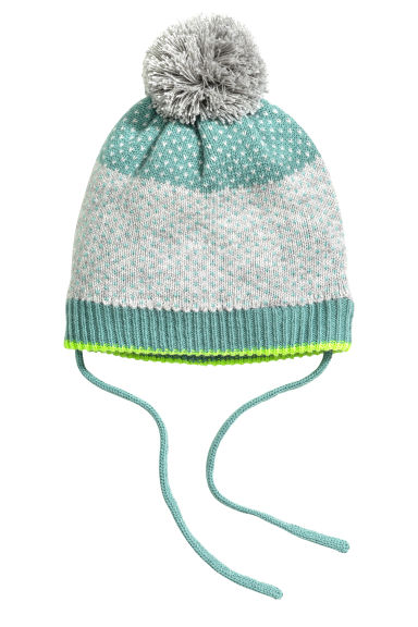 Jacquard-knit hat - Grey - Kids | H&M GB