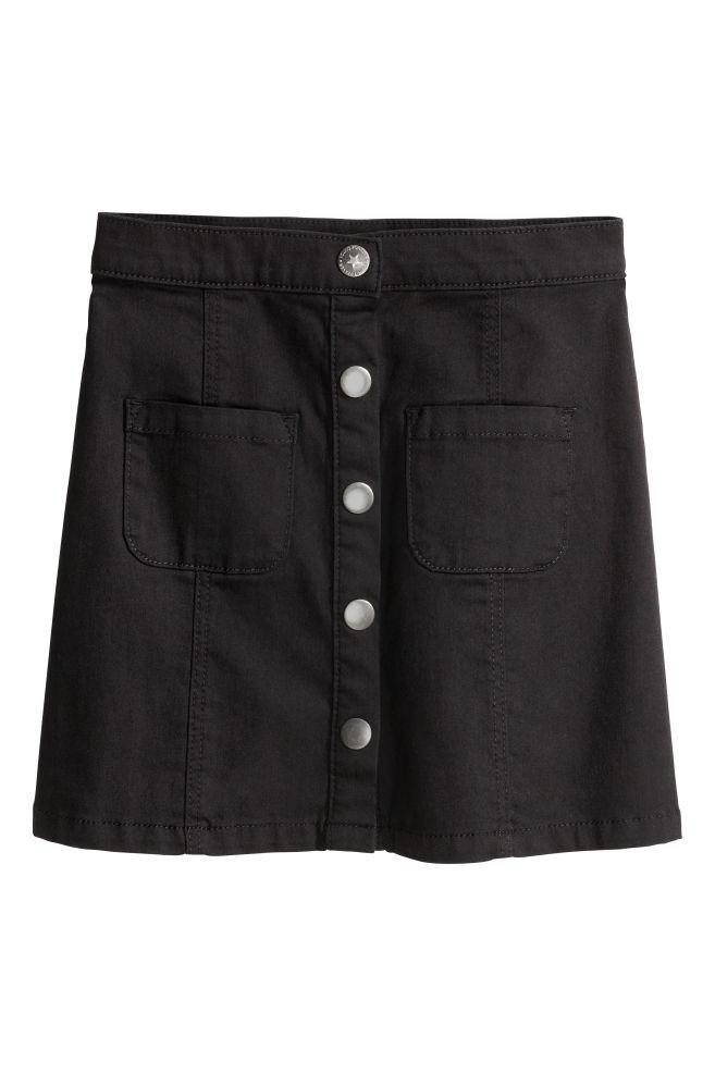 ae4d60b63 Falda de corte evasé - Negro - NIÑOS | H&M ...