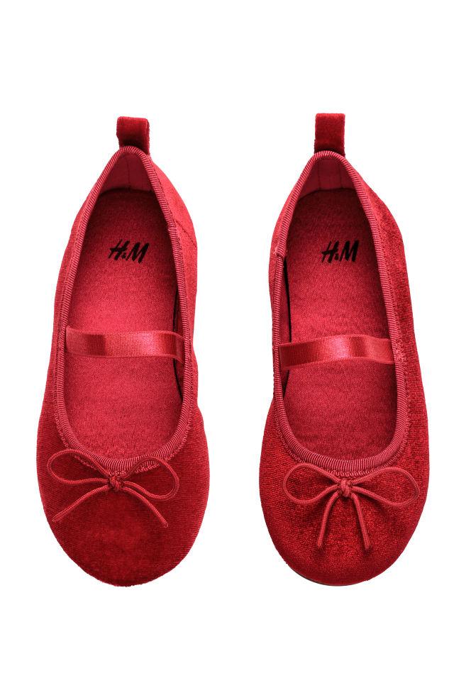 880a8dd7b7c Velvet ballet pumps - Red - Kids