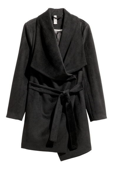Short coat - Black - Ladies | H&M CN