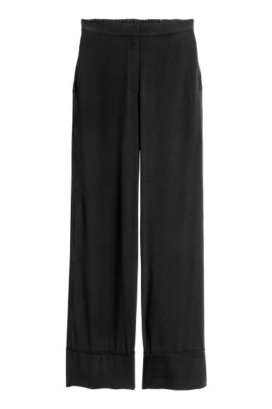 Wide trousers - Black - Ladies | H&M CA