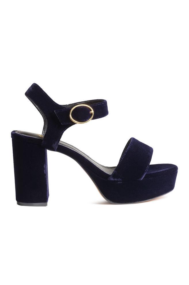249e49c02b2b6 Platform sandals - Dark blue - Ladies   H&M ...