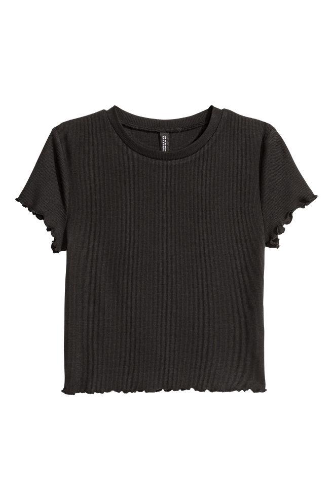 0c1f90dc3c Bordázott felső - Fekete - NŐI | H&M ...