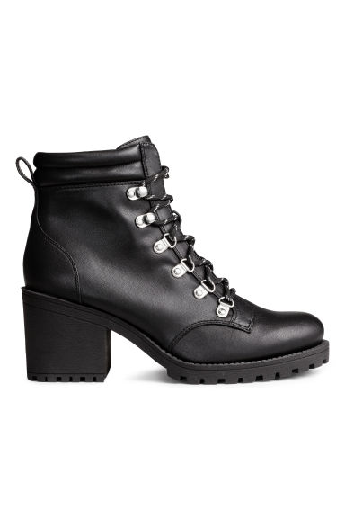 Chunky-soled ankle boots - Black - Ladies | H&M GB