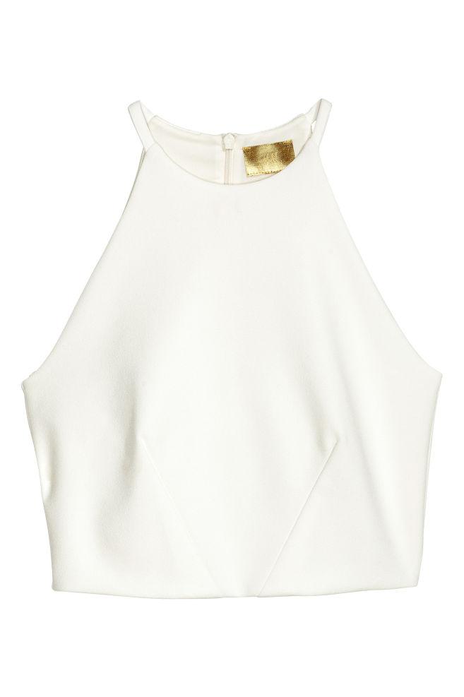47052b89823 Crop top - White - Ladies | H&M ...