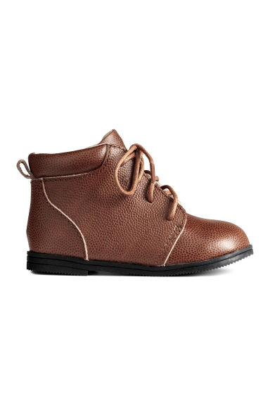 Bottines en cuir - Marron -  | H&M FR