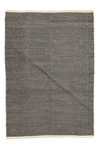 Jacquard-weave cotton rug - White/Anthracite -  | H&M CN