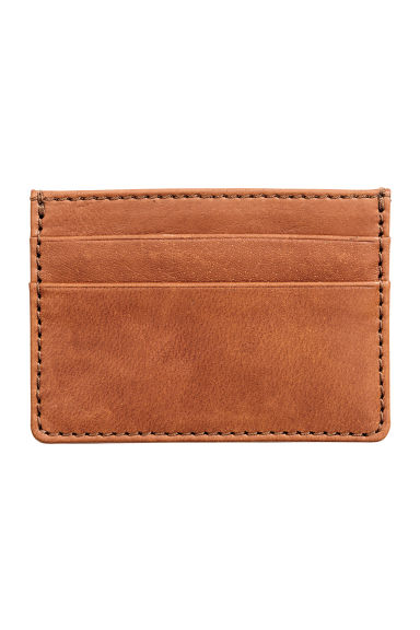 Leather card holder - Cognac brown -  | H&M CN