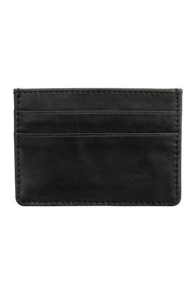 Leather card holder - Black -  | H&M IE
