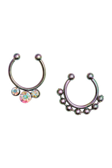 2-pack nose rings - Silver/Metallic -  | H&M CN