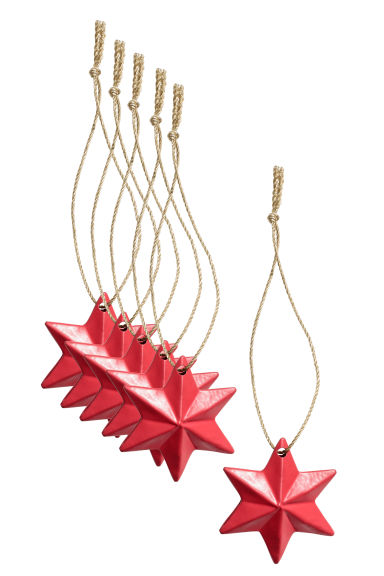 Lot de 6 décorations de Noël - Rouge -  | H&M FR