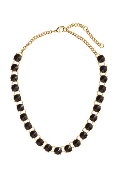 Short necklace - Black/Gold - Ladies | H&M GB