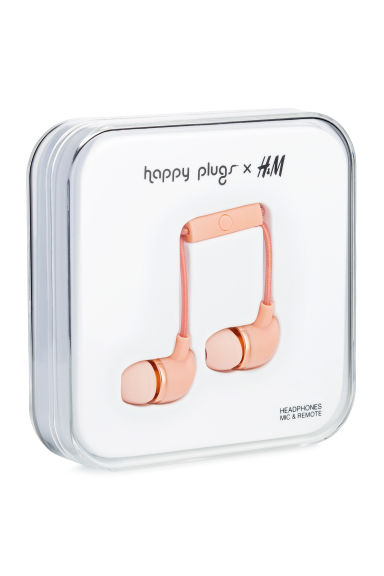 In-ear koptelefoon - Abrikoos - HEREN | H&M BE